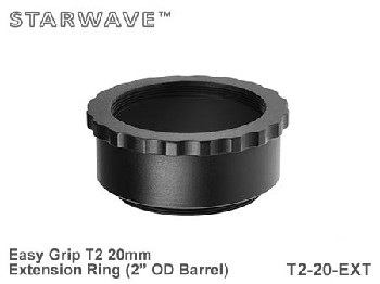 "20mm T2 Thread Spacer Extension Ring 2"" OD Barrel - Easy Grip"