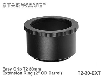 "30mm T2 Thread Spacer Extension Ring 2"" OD Barrel - Easy Grip"