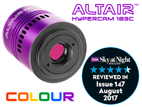 Altair Hypercam 183C PRO 20mp Colour Astronomy Imaging Camera Fan-cooled 4GB DDR3 RAM