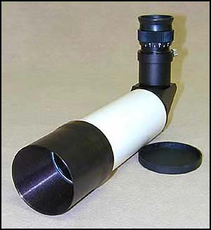 50MM Right Angle Correct Image finder Scope, 7.5X  Black
