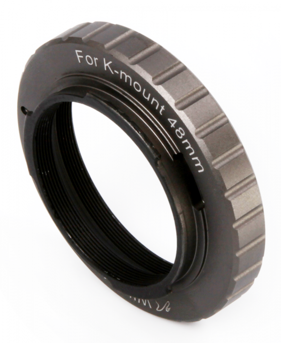 48mm T mount for Pentax K - Space Gray