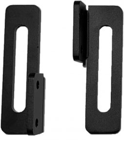 Pair of Black Aluminium Dovetail Brackets for PPBADV