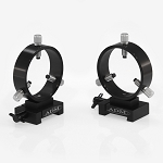 V Series Dovetail Ring Set. 75mm Adjustable Rings